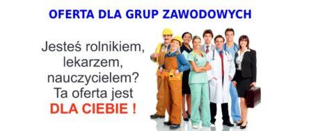 Oferty dla grup zawodowych